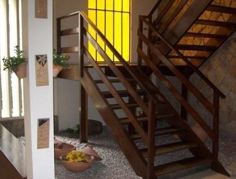 stairway to the upper floor